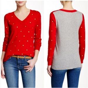 J Crew Women's XXS Wool Blend Polka Dot Sweater